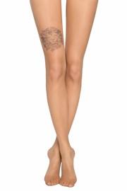 Dámské punčochové kalhoty s imitací tetování na stehně 20 DEN