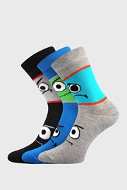 3 PACK chlapeckých ponožek Tlamík