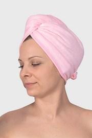 Turban na vlasy růžový