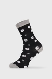 Dámské ponožky BlackWhite černé