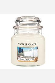 Yankee Candle gyertya Clean Cotton, közepes