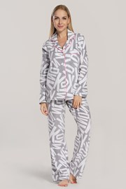 Dámské pyžamo DKNY Festive Beast šedé