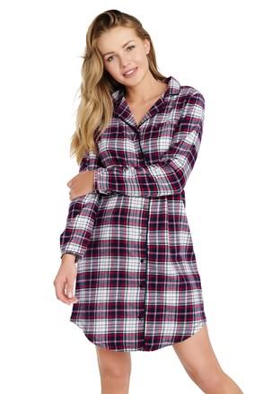 Ženska flanelasta spalna srajca Distinct