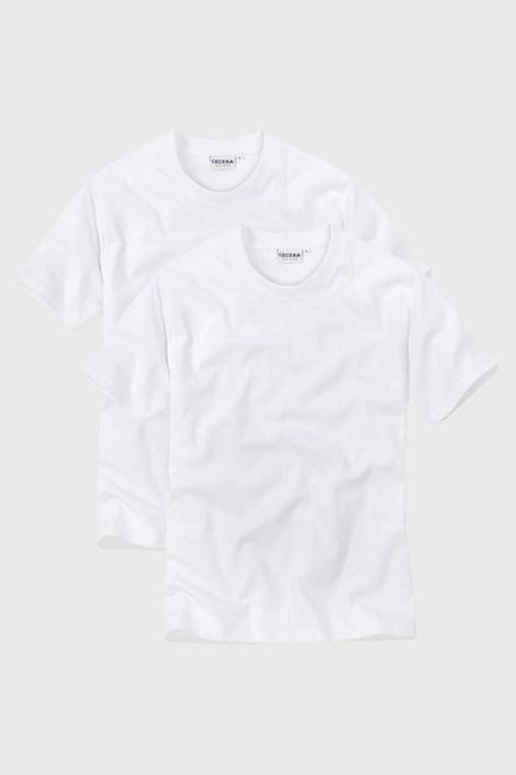 CECEBA 2pack pánských trik s výstřihem do V White bílá XXL