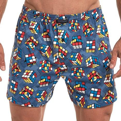 Cornette Pánské trenky Cube vícebarevná M