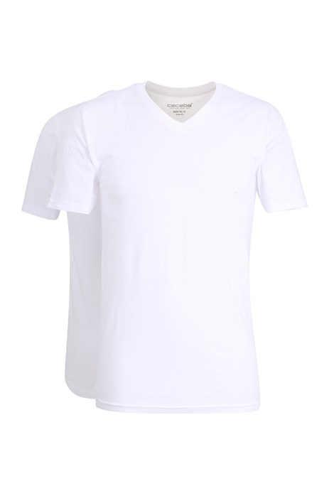CECEBA 2pack pánských trik Slim White bílá XL