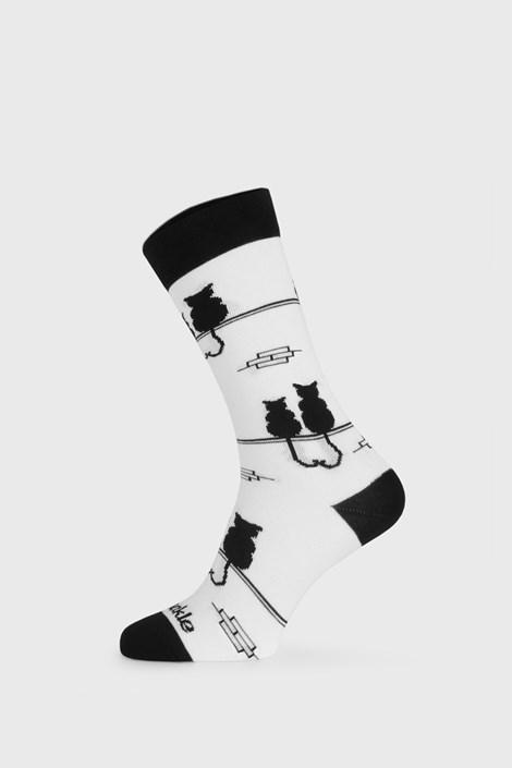 Fusakle Ponožky Fusakle Kocour a kočka bílá 35-38
