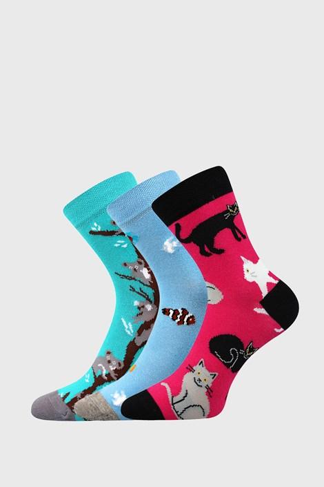 3 PACK dívčích ponožek Animals