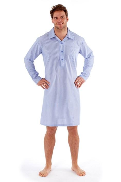 Harvey James Pánská noční košile Eddie modrá M