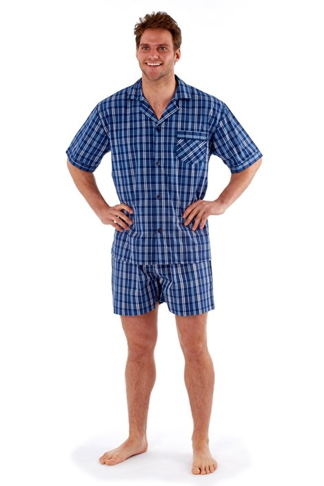Harvey James Pánské pyžamo Harvey krátké modrá M