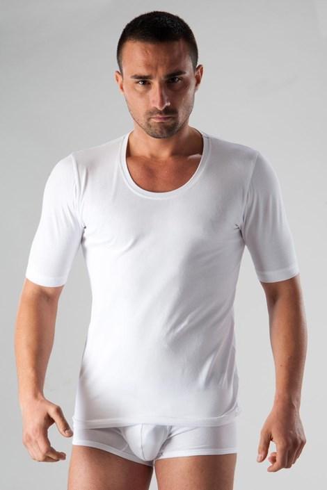 Мъжка фланела basic бяла