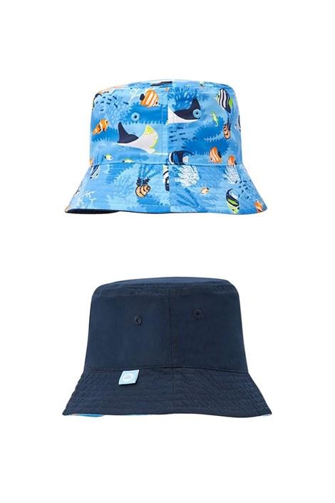 Mayoral Moda Infantil, S:A.U. Chlapecký oboustranný klobouček modrá 46