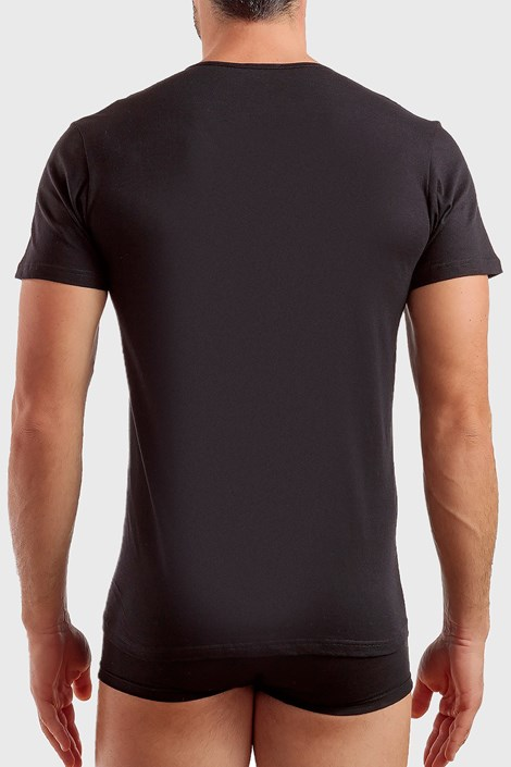 Enrico Coveri pánské basic triko s výstřihem do V černá S