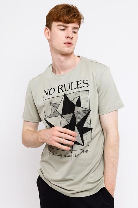 Mark Formelle Pánské tričko MF No Rules Beige béžová S
