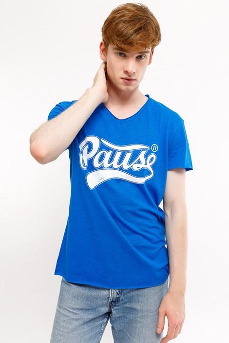 Mark Formelle Pánské tričko MF Pause modrá XXXL