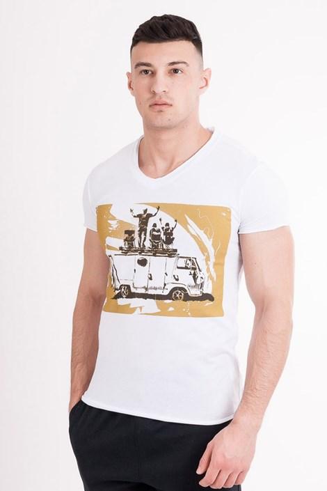 Mark Formelle Pánské tričko MF Travel bílá XL