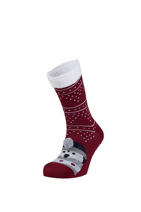 Ysabel Mora Hřejivé ponožky Rufa červená uni