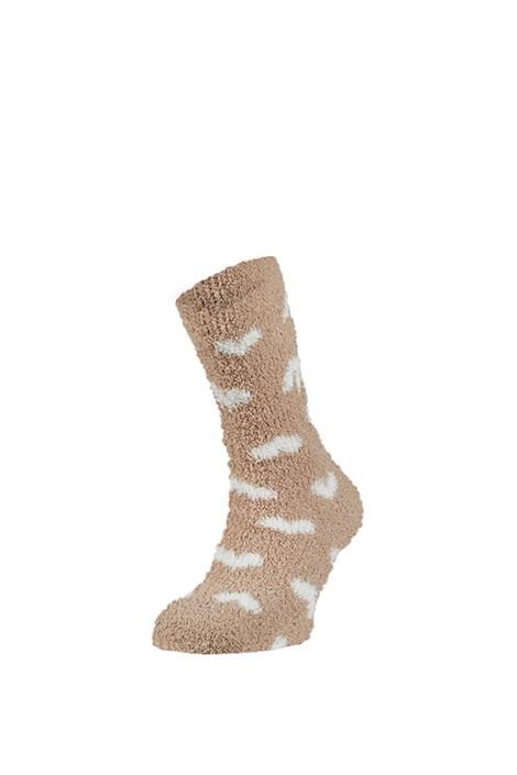 Ysabel Mora Hřejivé ponožky Trella hnědá uni