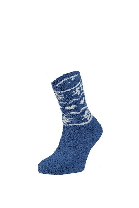 Ysabel Mora Hřejivé ponožky Zulma modrá uni