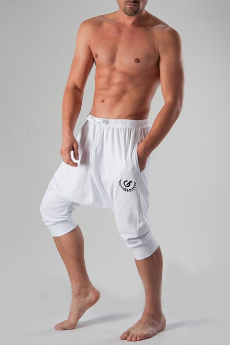 Geronimo Unisex harémové 3/4 kalhoty GERONIMO bílá XXL
