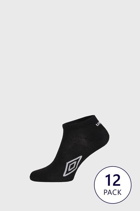 Umbro 12 PACK černých kotníkových ponožek Umbro černá 39-42
