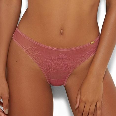 Gossard Kalhotky Glossies Lace Pink klasické staroruzova XS