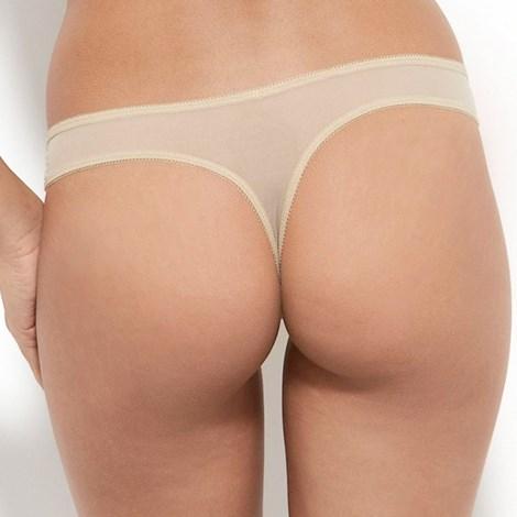 Gossard Tanga Gossard Glossies Nude krajkové béžová XS