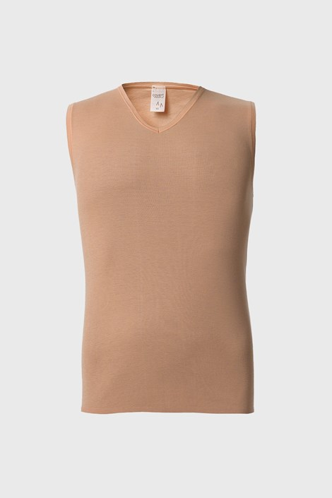Nude φανελάκι κάτω από πουκάμισο
