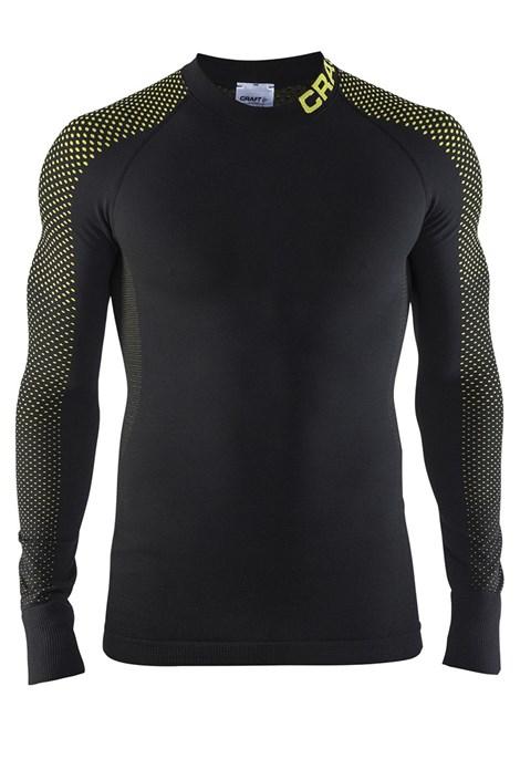 Craft Pánské funkční triko CRAFT Keep Warm intensity černožlutá S