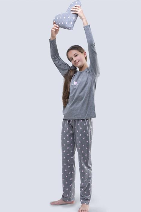 Gina Dívčí pyžamo Meow šedé šedá 140/146