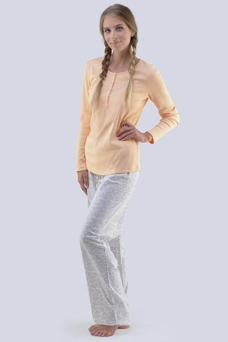 Gina Dámské pyžamo Emilia oranžovobílá XL