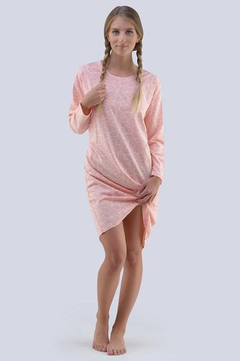 Gina Dámská noční košile Carol meruňková růžová XXXL