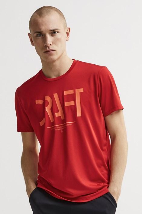 Craft Pánské triko CRAFT Eaze Mesh červená XXL