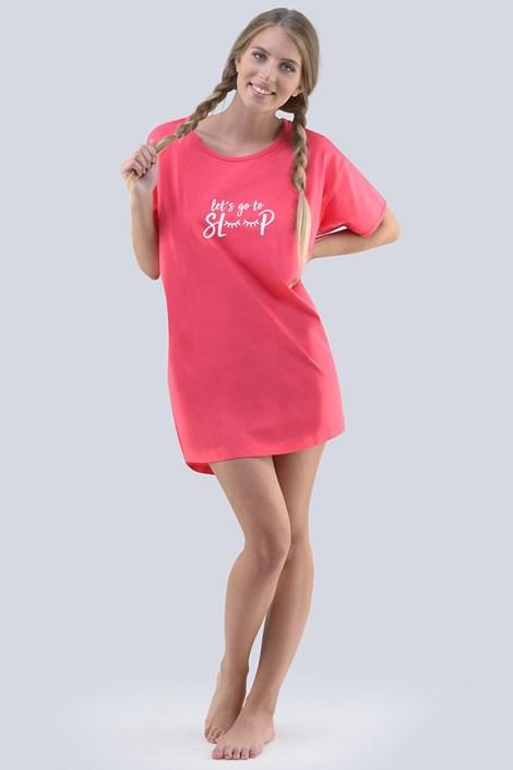 Gina Dámská noční košilka Annie růžová XXL