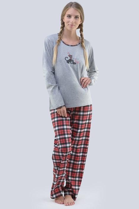 Gina Dámské pyžamo Magic šedočervená XL
