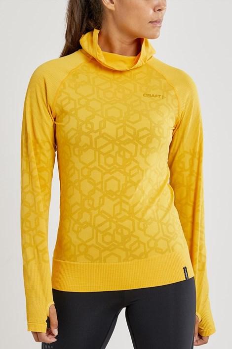CRAFT Dámská mikina CRAFT Charge Fuseknit H žlutá žlutá M