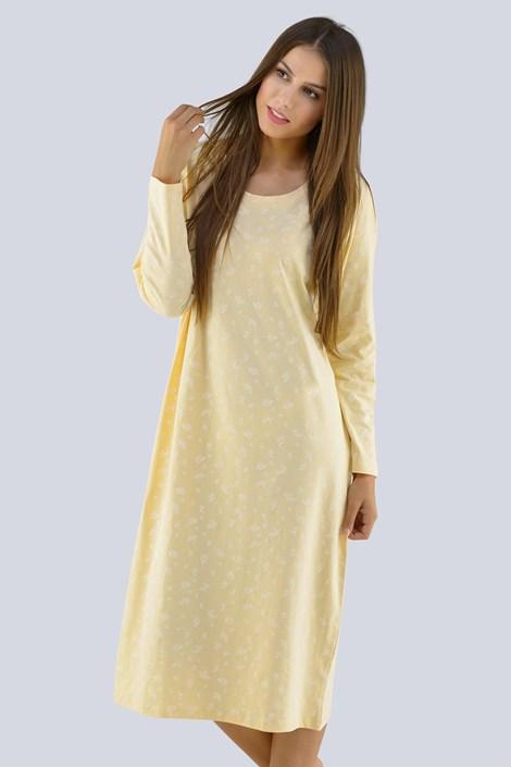Gina Dámská noční košilka Amalie žlutá XXXL