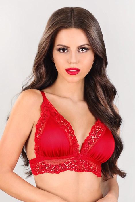 Lupoline Podprsenka Scarlet Bralette nevyztužená červená S
