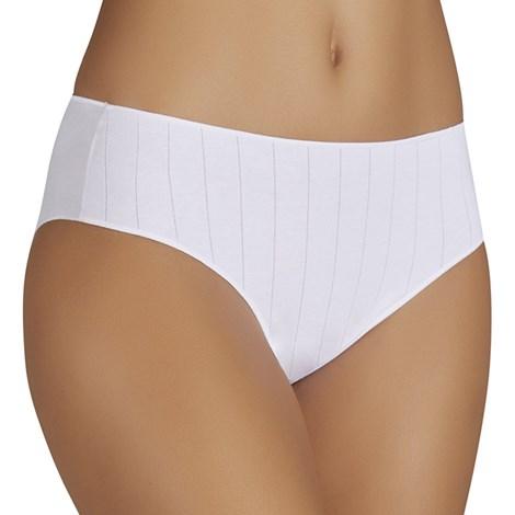 Ysabel Mora Bavlněné kalhotky Luisa klasické vyšší bílá XL