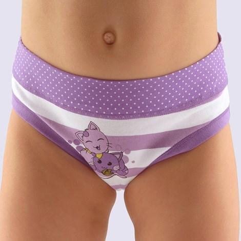 Gina Dívčí kalhotky Cats fialová 140/146