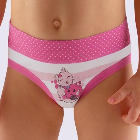 Gina Dívčí kalhotky Cats růžová 128/134