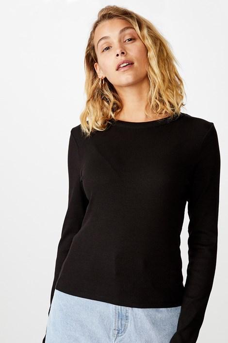 Dámské basic triko s dlouhým rukávem Turn černá