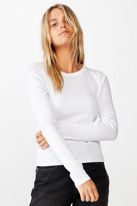 Dámské basic triko s dlouhým rukávem Turn bílá