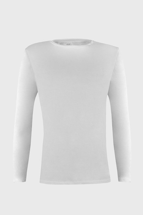 Ysabel Mora Tričko s dlouhým rukávem Cotton Nature bílé bílá XXL