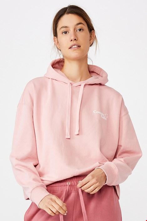 Dámská růžová mikina