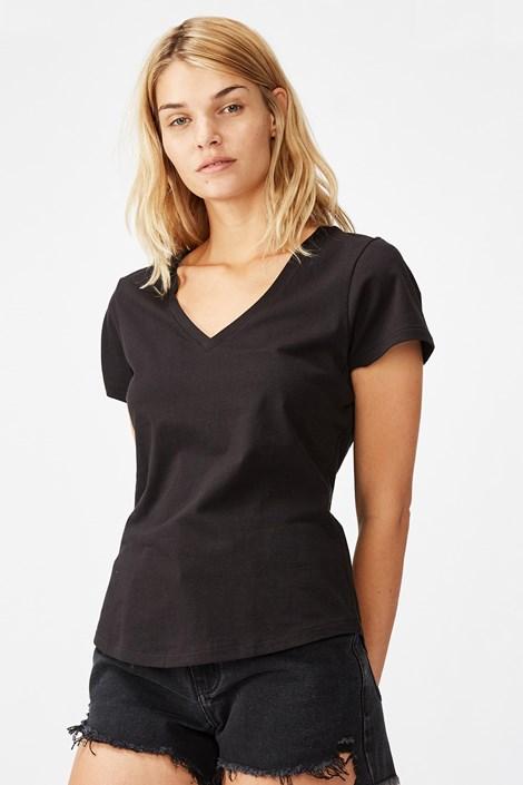 Dámské basic triko s krátkým rukávem One černá