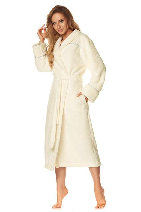 Жіночий теплий халат Satyn ecru