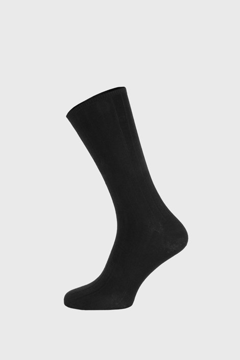 Černé žebrované ponožky