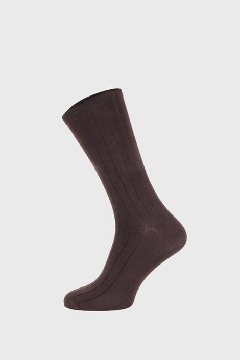 Ysabel Mora Hnědé žebrované ponožky hnědá 41-46