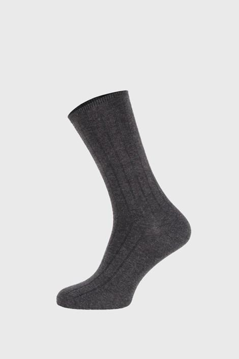 Ysabel Mora Šedé žebrované ponožky šedá 41-46